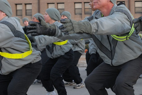 The U.S. Army squat