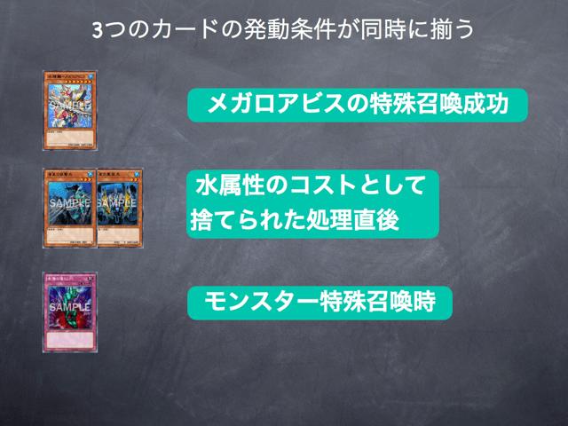メガロアビスの特殊召喚時に発動できるカード