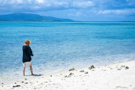 竹富島の透き通った海