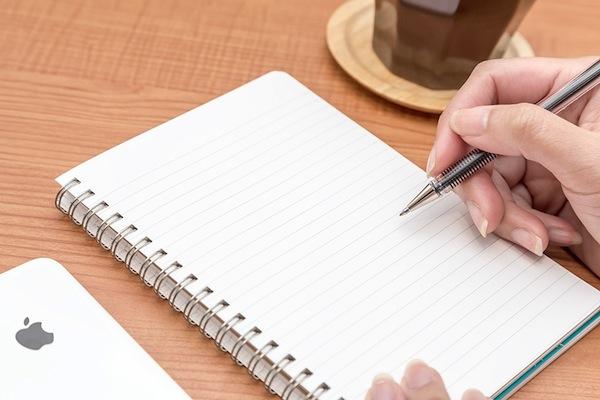 ノートに書き込みをする