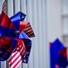 アメリカ国旗の風車