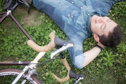 自転車と休憩
